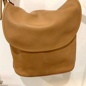 Coach Leather Shoulder Bag, Made in USA